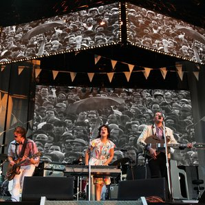 Arcade Fire performing at Hyde Park 2011.