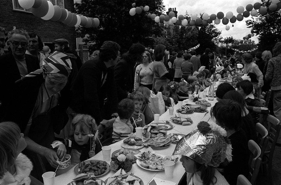 1977 Silver Jubilee street party