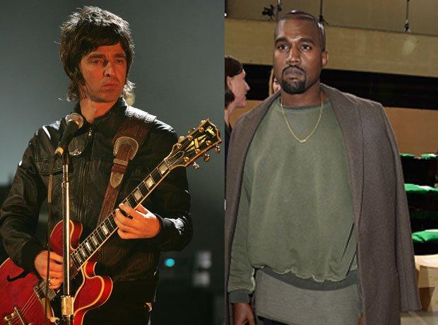 Noel Gallagher and Kanye West