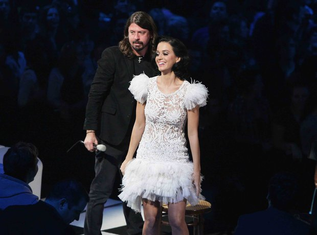 Katy Perry and Dave Grohl