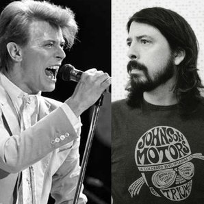 Bowie and Grohl splitscreen