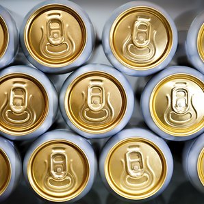 Beer Cans stock image
