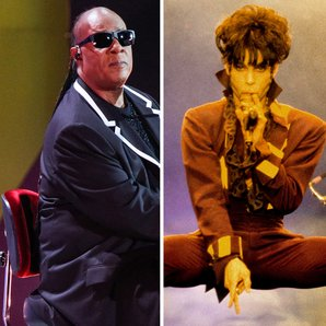 Stevie Wonder Prince musician split image