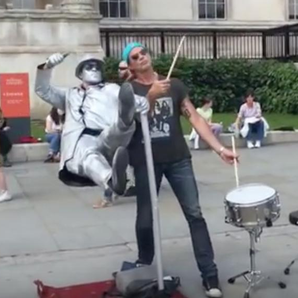 Chad Smith Red Hot Chili Peppers Busks London Traf