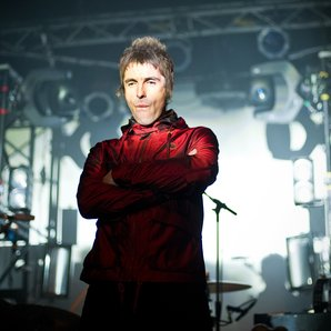 Liam Gallagher performing with Beady Eye in 2013