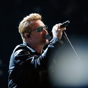 Bono performs France November 2015