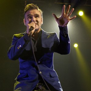 Morrissey performing in Manchester in 2004