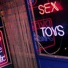Soho London sex shop stock image