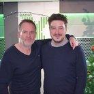 Marcus Mumford and Chris Moyles