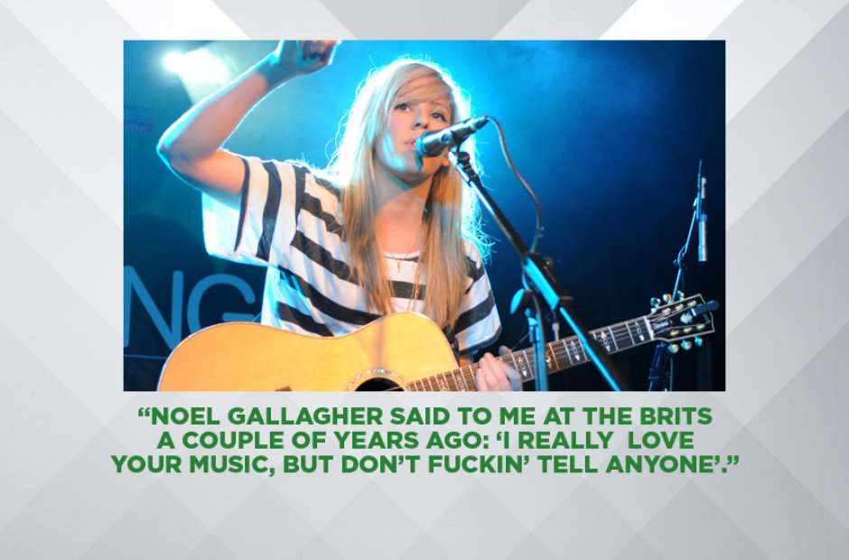 ELLIE GOULDING ON NOEL GALLAGHER, APRIL 2016