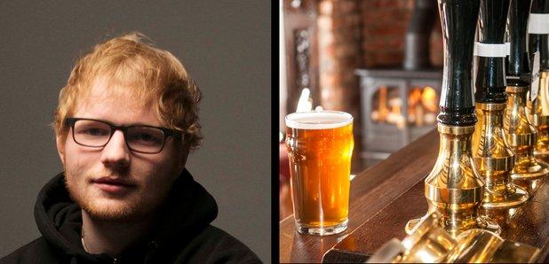 Ed Sheeran press 2017 and Pub image stock
