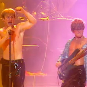Gary Barlow Mark Owen performing Nirvana in 1995