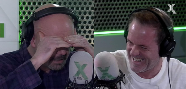 Dom hysteric reading the news on The Chris Moyles