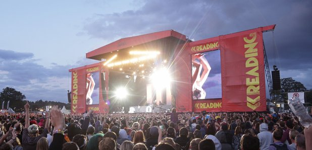 Reading Festival picture with stage 2014