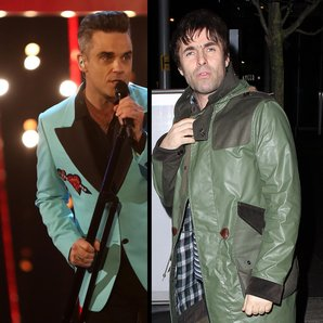 Robbie Williams and Liam Gallagher