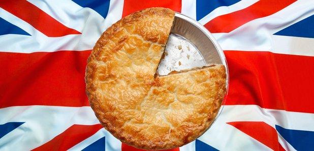 Pie British Flag stock image