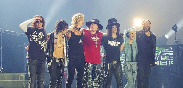 Guns N' Roses performing in San Diego 2016