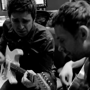 Noel Gallagher and Damon Albarn Gorillaz studio mo