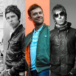 Noel Gallagher Damon Albarn and Liam Gallagher