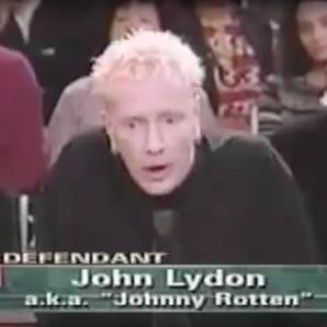 Johnny Rotten on Judge Judy clip