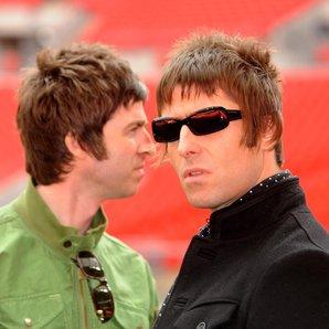 Noel and Liam Gallagher Wembley Stadium 2008