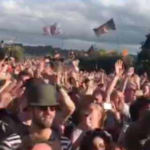 Fans at Glastonbury The Killers Mr. Brightside