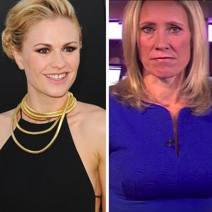 Anna Paquin and Sophie Raworth BBC news clip